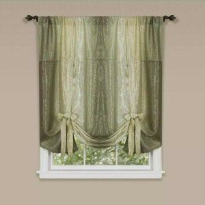 Achim Home Furnishings, Green Sage Ombre Pair